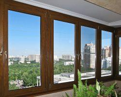 фото балконных рам ПВХ-4